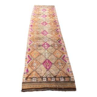 Vintage Tribal Handmade Hallway Runner- 2′10″ × 11′8″ For Sale