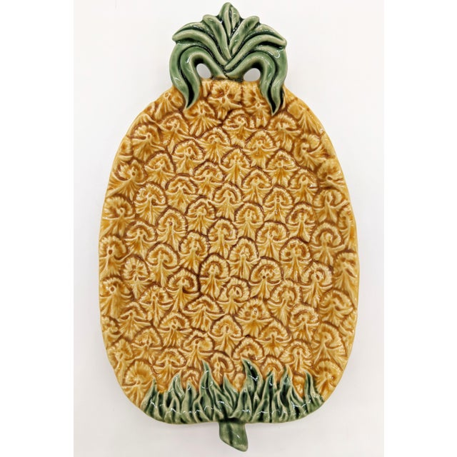 Bordallo Pinheiro Majolica Pineapple Platter For Sale In Houston - Image 6 of 6