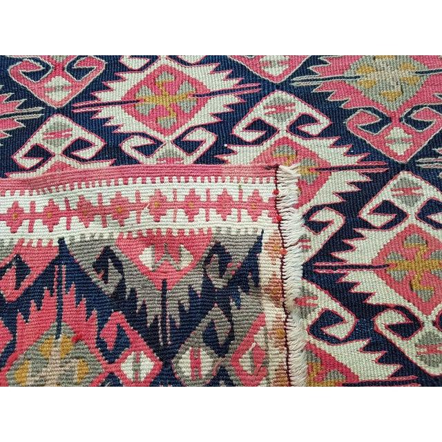"Textile Vintage Small Van Turkish Kilim Rug 2'1"" X 3'7"" For Sale - Image 7 of 8"