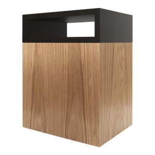 Contemporary 101 Side Table in Oak and Black by Orphan Work, 2019 For Sale