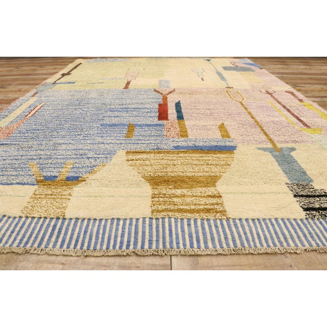 Textile Moroccan Contemporary Rug - 10'00 X 13'10 For Sale - Image 7 of 10