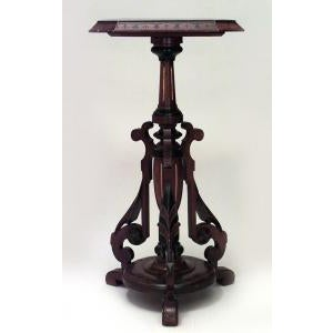 Americana American Victorian Eastlake walnut pedestals- A Pair For Sale - Image 3 of 8