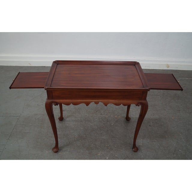 Henkel Harris Solid Cherry Queen Anne Tea Table - Image 7 of 10