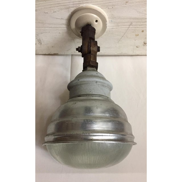 Vintage industrial lamp a pair For Sale - Image 5 of 5