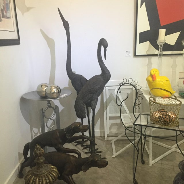 Bronze Crane Sculptures 6 Ft - a Pair For Sale - Image 12 of 13
