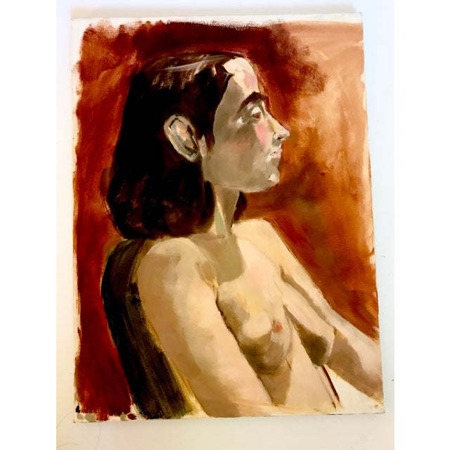 2000 - 2009 Modern Nude Study Oil Painting With Max Ginsburg For Sale - Image 5 of 5