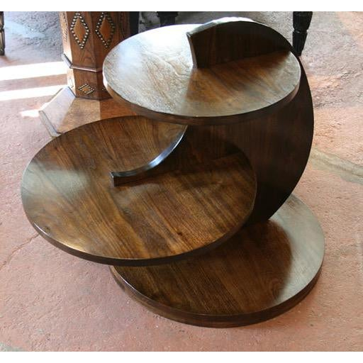 """Art Deco inspired tiered circles table. Elegant geometric side table. As shown, Top shelf height is 24"""", overall height is..."""
