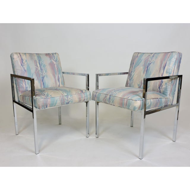 Six Design Institute of America Dia Mid-Century Modern Chrome Dining Chairs For Sale In Philadelphia - Image 6 of 11