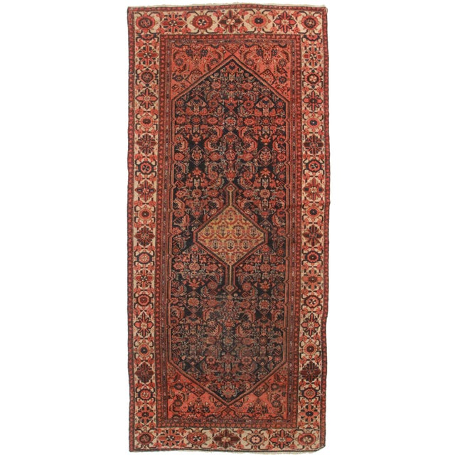 Antique Persian Malayer Runner - 4′11″ × 11′1″ For Sale