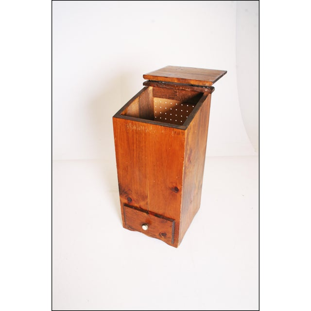 Vintage Rustic Wood Taters & Onions Bin - Image 4 of 11