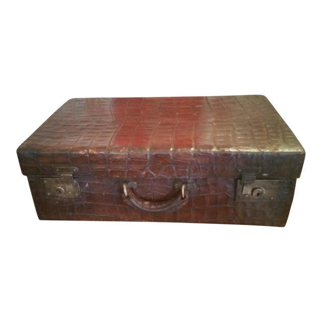 19th Century Alligator Suitcase For Sale