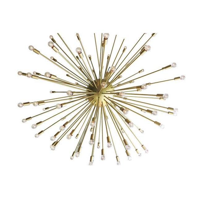 Brass Mid-Century Style Brass Sputnik Chandelier For Sale - Image 7 of 9