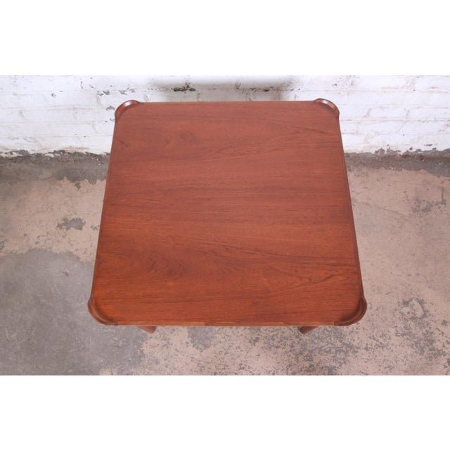 Finn Juhl for Baker Furniture Teak Game Table For Sale In South Bend - Image 6 of 9
