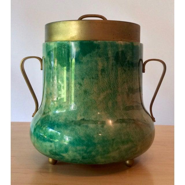 Aldo Tura Lacquered Goatskin Ice Bucket - Image 2 of 8