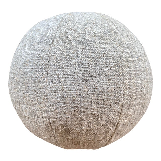 German Linen Ball Pillow For Sale