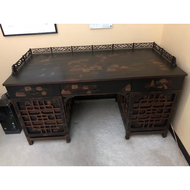 Brown Late 20th Century Vintage Drexel Heritage Mandalay Desk For Sale - Image 8 of 8