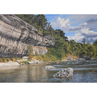"""Garrett Middaugh """"Guadalupe River"""" Oil Painting For Sale"""