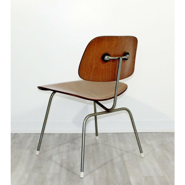 For your consideration is an original, early DCM side chair, by Charles Eames for Herman Miller, circa the 1950s. In...