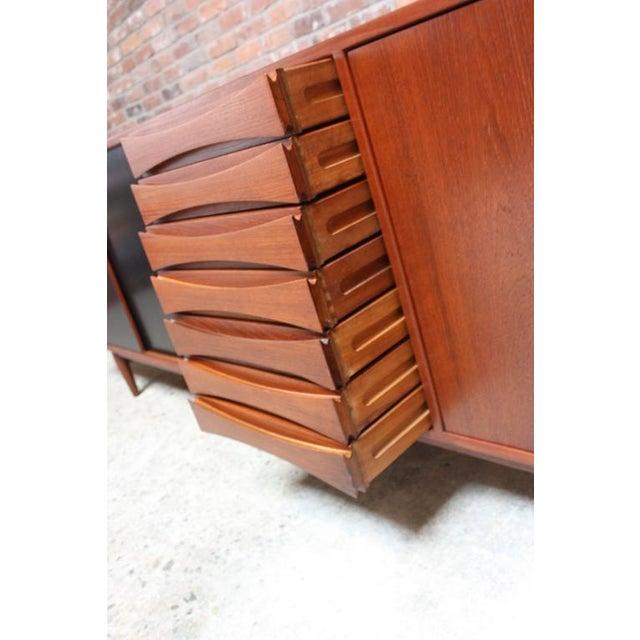 Brown Arne Vodder Teak Credenza with Reversible Doors For Sale - Image 8 of 11