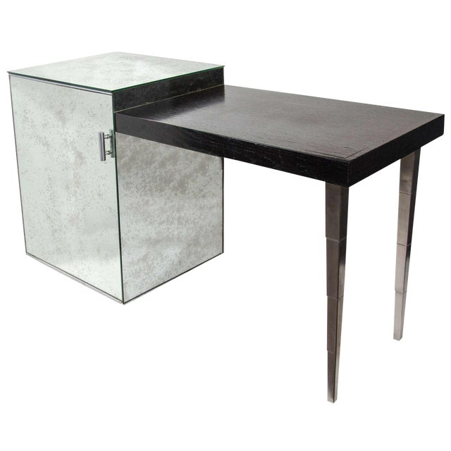 Silver Art Deco Vanity Table and Desk by Robsjohn-Gibbings for Widdicomb For Sale - Image 8 of 8