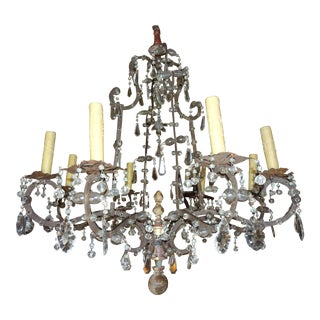 18th Century Italian Crystal Chandelier For Sale