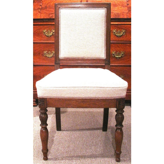 19th Century French Walnut Square Back Chairs - a Pair - Image 2 of 9