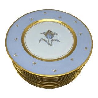 Swedish Design Bohemia Porcelain Plates - Set of 12