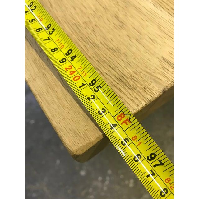 Oak Rustic Oak Finish 8-Foot Farm Table For Sale - Image 7 of 9