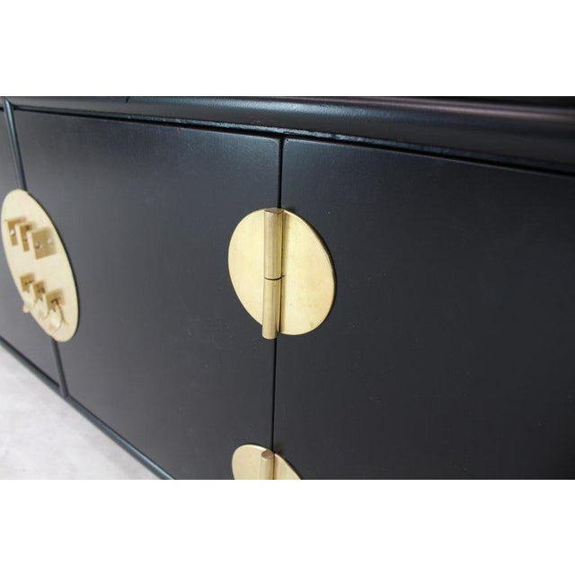 1970s Mid-Century Modern Black Ebonized Credenza For Sale - Image 10 of 14