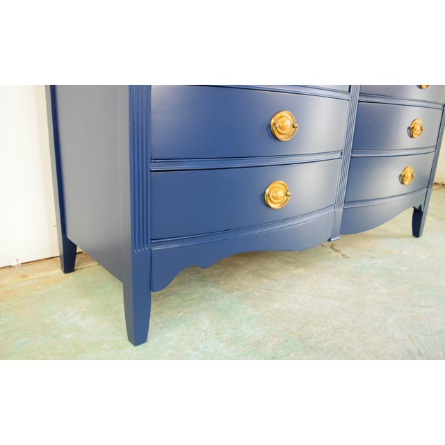 19th Century Boho Chic Bassett Navy Blue Lacquer and Gold Dresser For Sale In San Francisco - Image 6 of 11