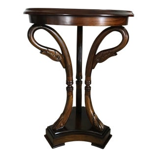 Empire Swan Wine Accent Table For Sale