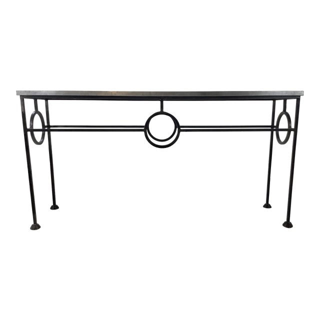 Industrial Modern Arteriors Westerly Iron and Metal Console Table For Sale