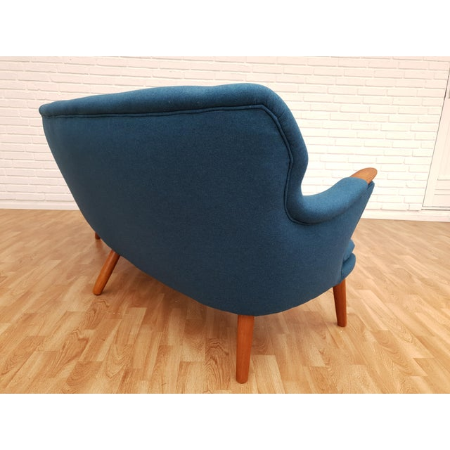 "1960s Vintage Danish Design by Kurt Olsen, ""Banana"" Sofa For Sale - Image 6 of 13"