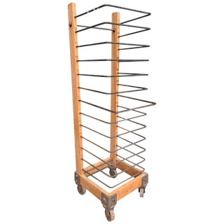 Vintage American Industrial Baker's Rack For Sale