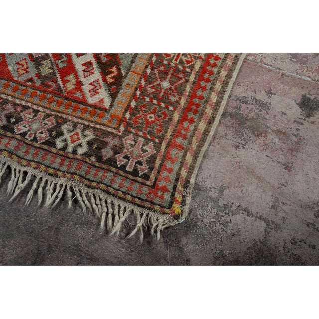 Antique Kurdistan Hand Made Tribal Rug - 4' X 7' For Sale - Image 5 of 10