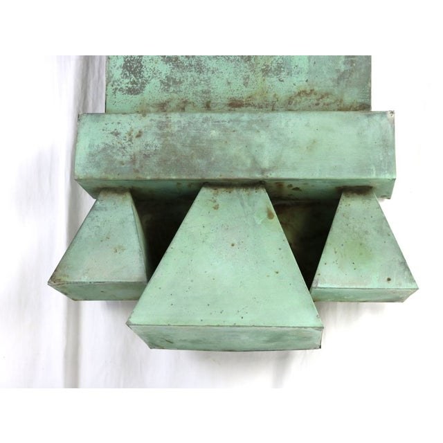 Copper Antique Green Copper Architectural Brackets - a Pair For Sale - Image 7 of 10