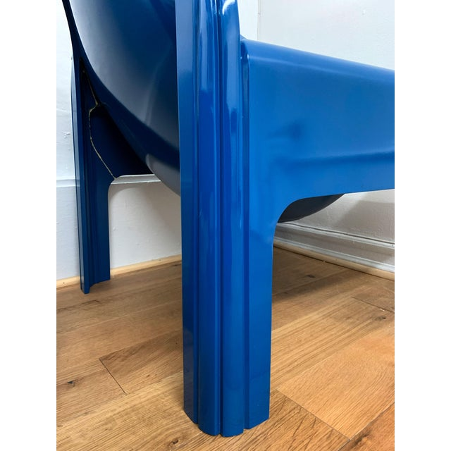 Blue 1970s Vintage Gae Aulenti for Kartell Italian Lounge Chairs- A Pair For Sale - Image 8 of 13