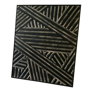 Sculptured Leather Geometric Artwork For Sale