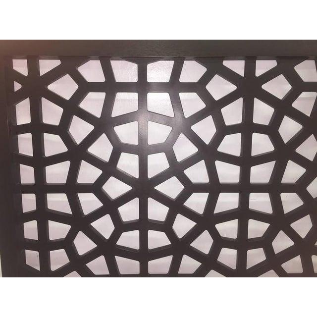 Black Wooden Latticework Headboard - Image 4 of 5