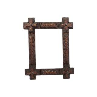 Antique Tramp Art Frame For Sale