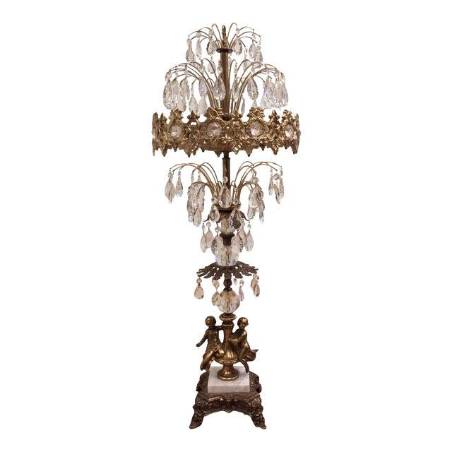 Mid Century Hollywood Regency Crystal Prism Table Lamp Chairish