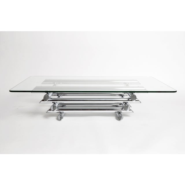 Mid-Century Modern Mid-Century Coffee Table with Original Glass For Sale - Image 3 of 10