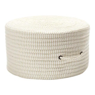 Ticking Fabric Stripe Pouf