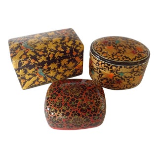 Kashmir Boxes - Set of 3 For Sale