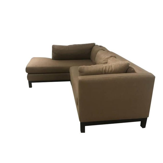White Crate & Barrel Sectional Sofa For Sale - Image 8 of 11