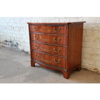 Drexel Heritage Satinwood Hand Painted Adams Style Chest of Drawers Preview
