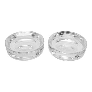 Mid-Century Modern Signed Crystal Bowls - a Pair For Sale