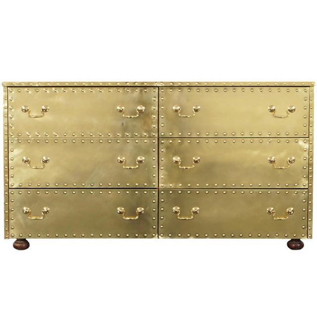 Vintage Brass Dresser by Sarreid For Sale - Image 9 of 9