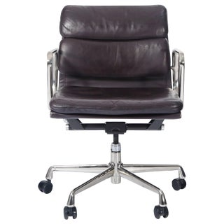 Charles Eames for Herman Miller Auburgine Soft Pad Management Chair, Circa 1980 For Sale