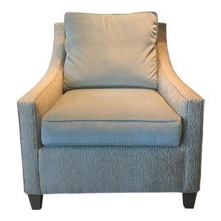 Cox Light Aqua & Zebra Stripe Chair